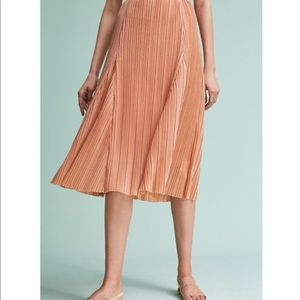 Anthropologie Maeve Ambra Pleated Skirt